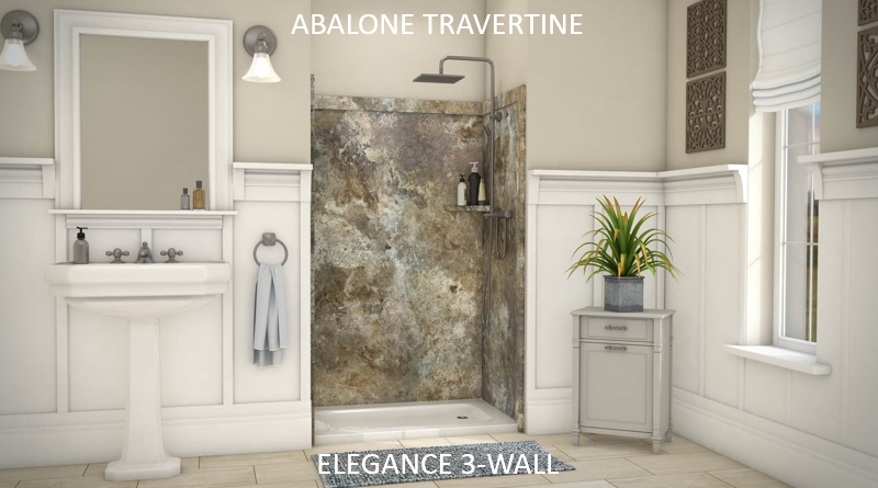 ELEGANCE 3-WALL SHOWER KIT – Flexstone Bath Kits