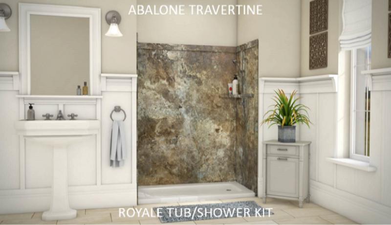 Royale 3 Wall Tub Or Shower Kit Flexstone Bath Kits
