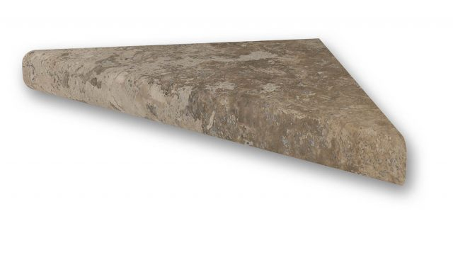 Mocha Travertine - Corner Shelf-15
