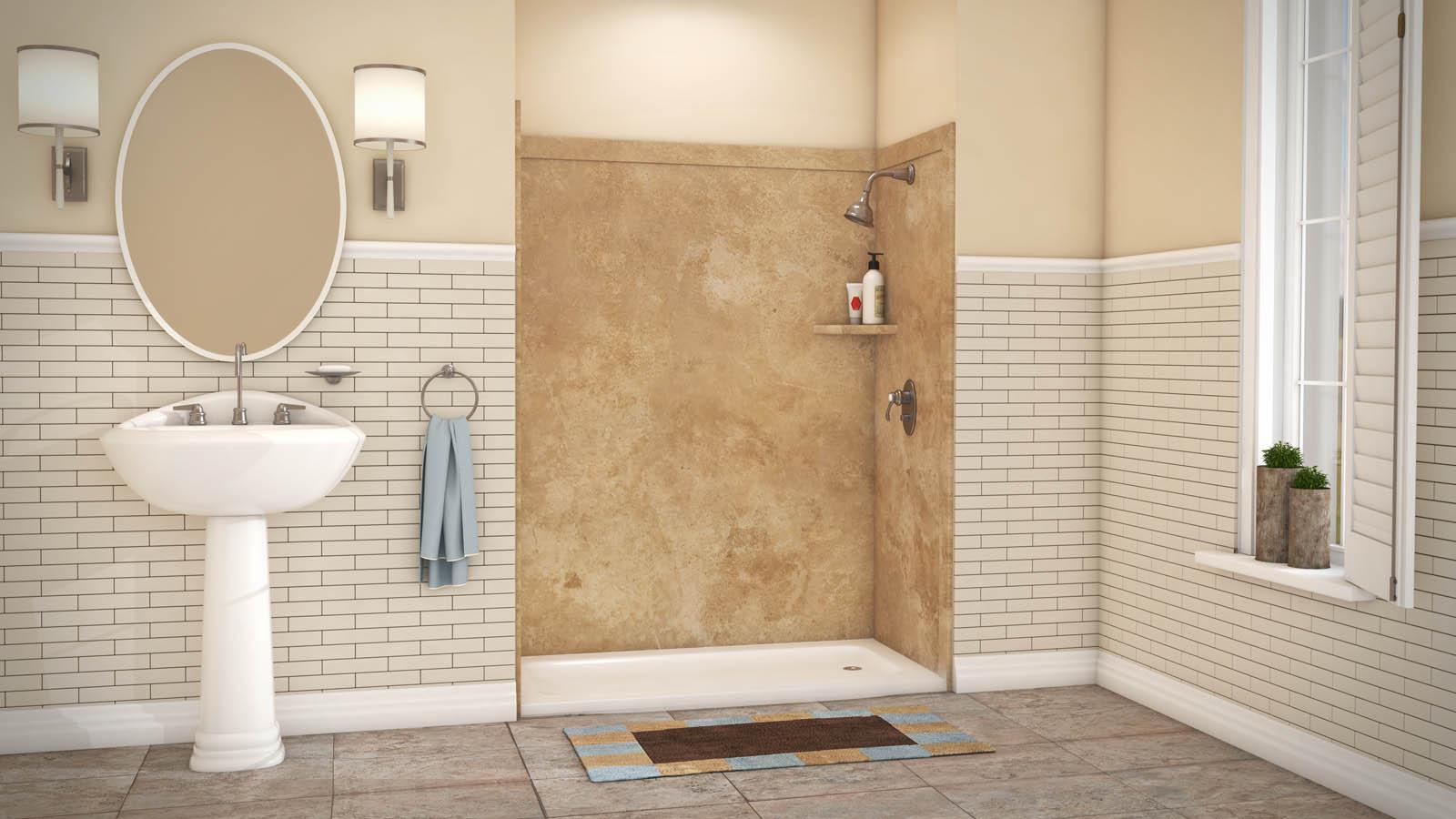 ADAPTABLE 3-WALL SHOWER KIT – Flexstone Bath Kits